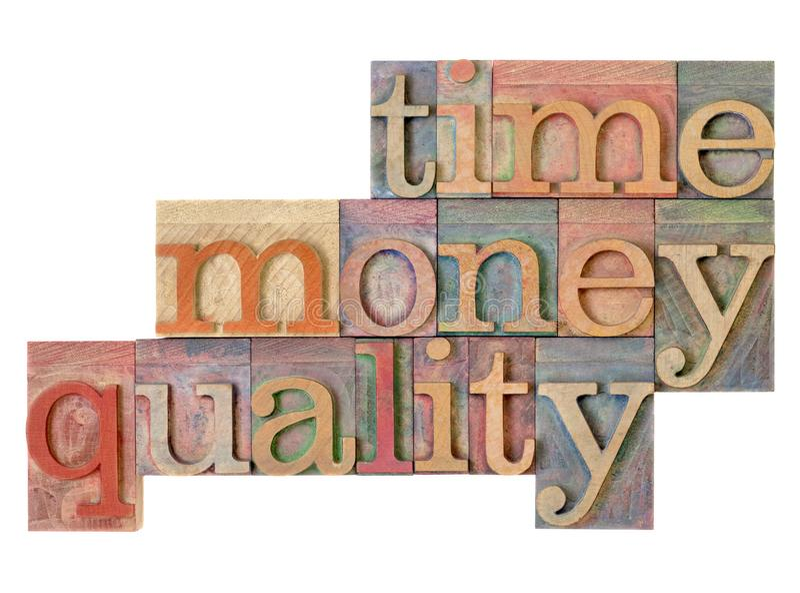 Tijd, geld, kwaliteit - beheersstrategie royalty-vrije stock afbeeldingen