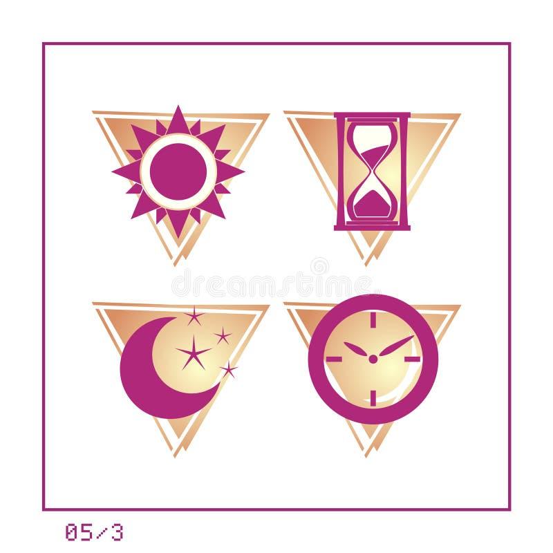 Download TIJD: Het Pictogram Plaatste 05 - Versie 3 Stock Illustratie - Illustratie bestaande uit grafisch, ochtend: 277515