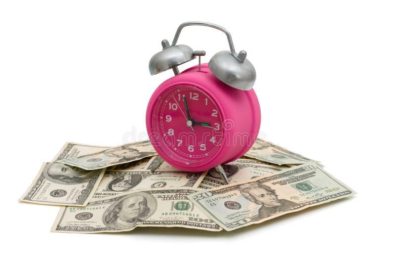 Tijd om geld te besparen stock afbeelding