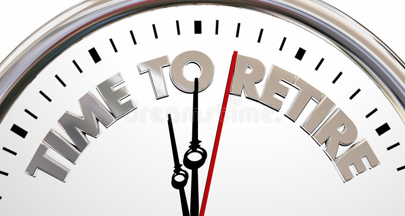 Tijd om het Eind van het Klokeinde terug te trekken het Werk Woorden vector illustratie