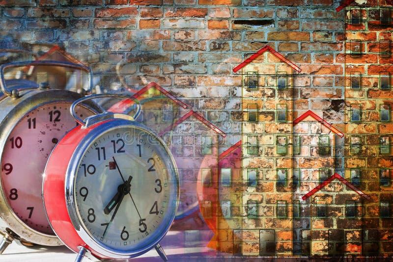 Tijd om huis te bewegen - conceptenbeeld stock fotografie