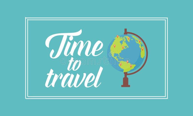 Tijd om op de wereld te reizen stock illustratie