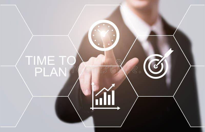 Tijd om van het het Bedrijfs projectdoel van het Strategiesucces te plannen het Concept van Technologieinternet royalty-vrije stock foto's