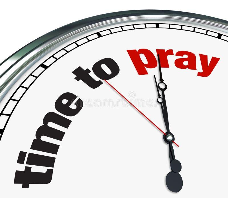 Tijd te bidden - Klok vector illustratie