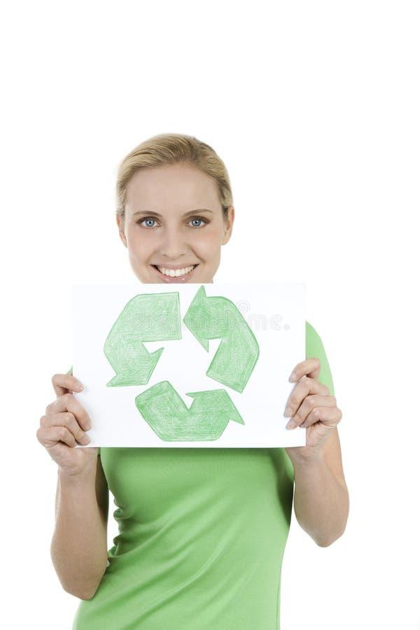 Tijd te recycleren! stock foto