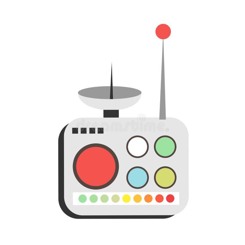 Tijd te selecteren Infrarood controlemechanismesymbool Tijdmachine royalty-vrije illustratie