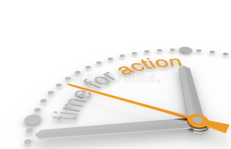 Tijd voor Actie. vector illustratie