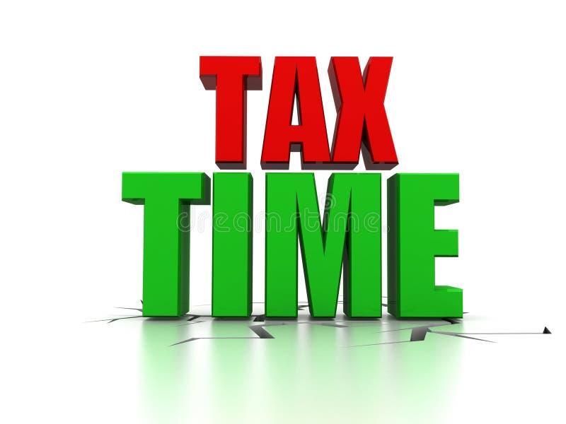 Tijd voor Belastingenbericht die Belastingheffing Gepaste Voorraadfoto tonen royalty-vrije illustratie