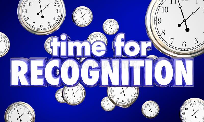Tijd voor de Klokkeneer van de Erkenningsappreciatie royalty-vrije illustratie