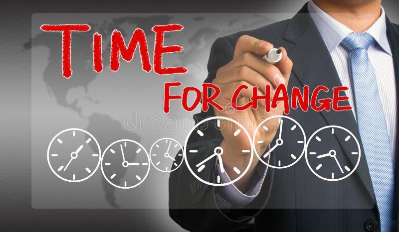 Tijd voor het concept van de Verandering stock foto