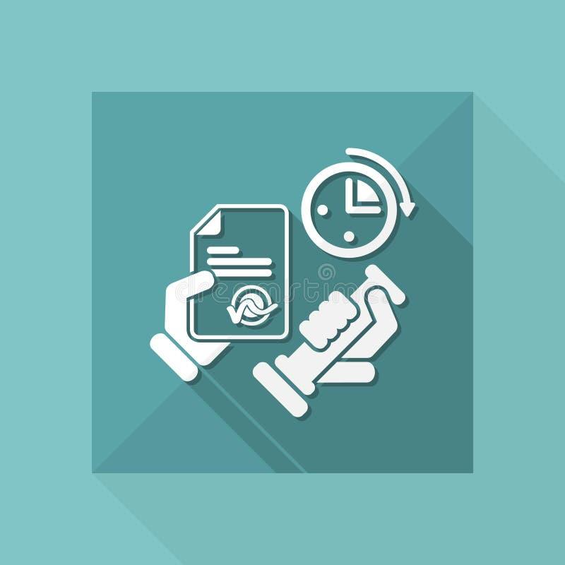 Tijd voor het officiële document vector illustratie