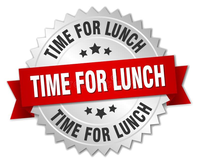 Tijd voor lunch royalty-vrije illustratie