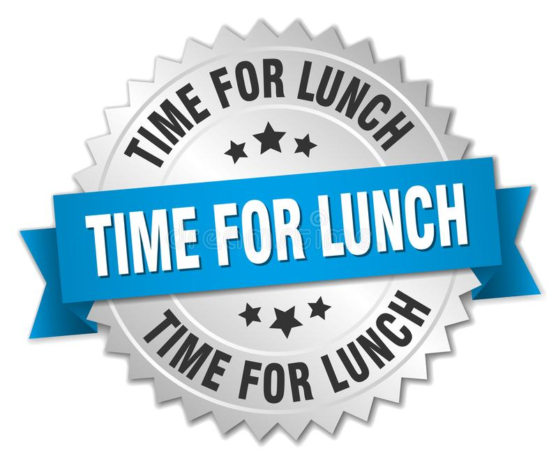 Tijd voor lunch stock illustratie