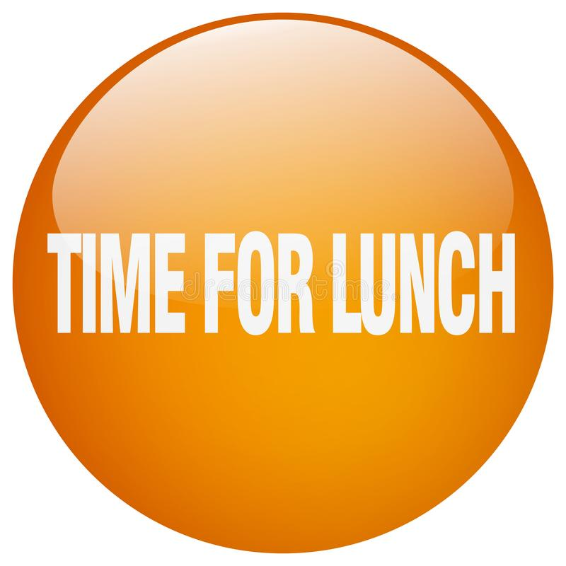 tijd voor lunchknoop stock illustratie