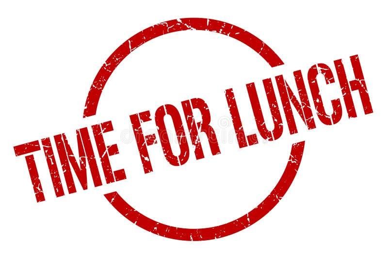 Tijd voor lunchzegel stock illustratie