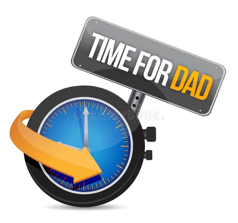 Tijd voor Papaconcept en teken. stock illustratie