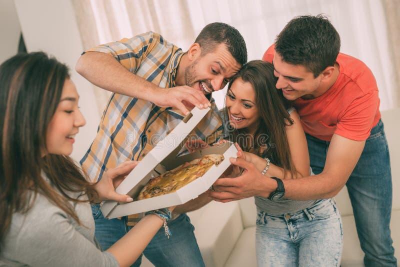 Tijd voor pizza royalty-vrije stock afbeelding