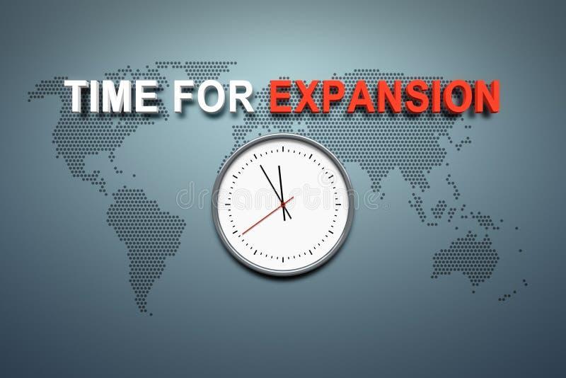 Tijd voor uitbreiding bij de muur royalty-vrije illustratie