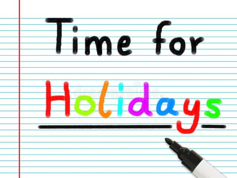 Tijd voor vakantie royalty-vrije illustratie