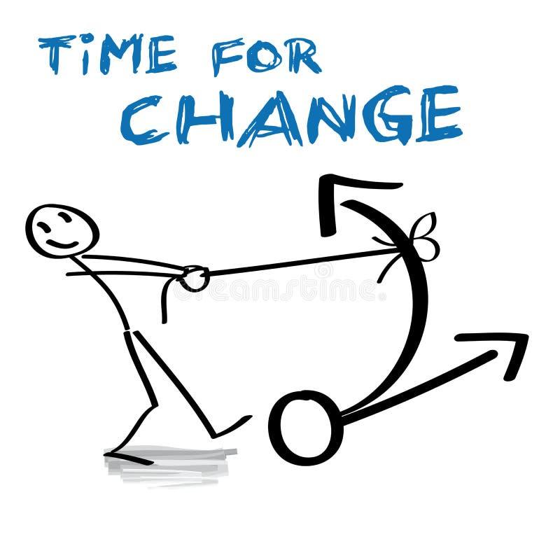 Tijd voor Verandering royalty-vrije illustratie