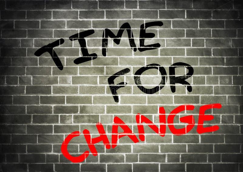 Tijd voor verandering vector illustratie