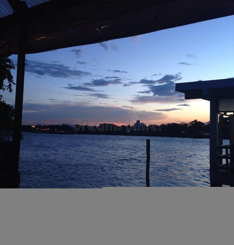 Tijd voor zonsondergang stock afbeelding