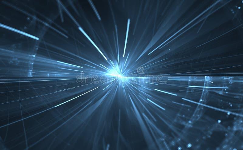 Tijdafwijking, die in ruimte reizen vector illustratie