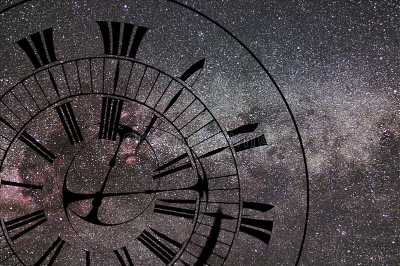 Tijdafwijking Tijd en Ruimte, Algemene Relativiteit stock foto's