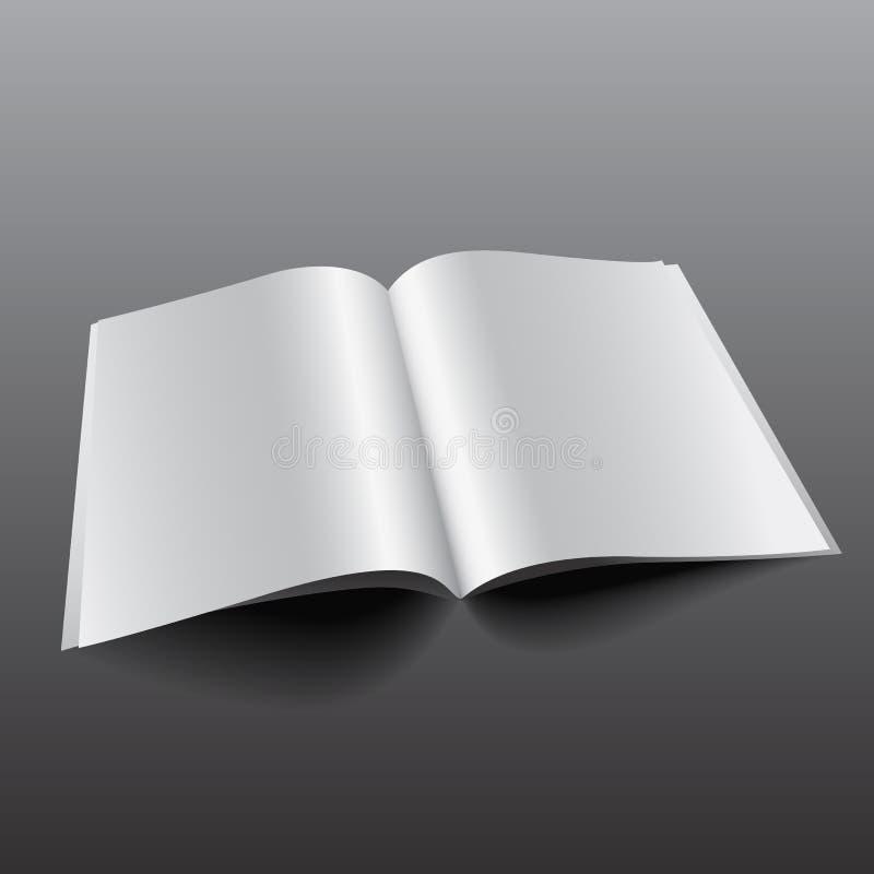 Tijdschrift vectormockup4 royalty-vrije illustratie