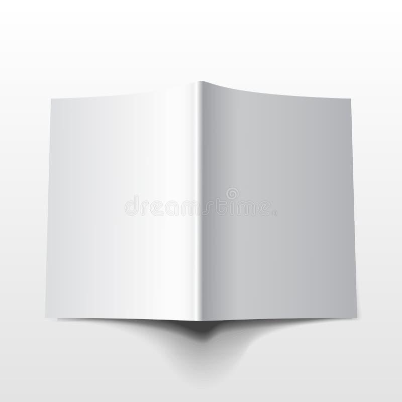 Tijdschrift vectormockup2 royalty-vrije illustratie