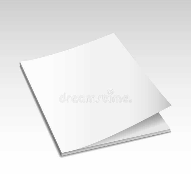 Tijdschriftmodel vector4 stock illustratie