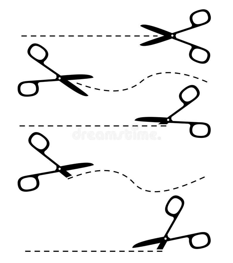 Tijeras stock de ilustración