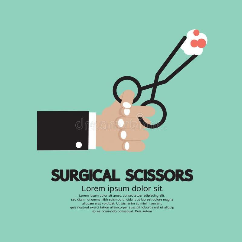 Tijeras quirúrgicas stock de ilustración