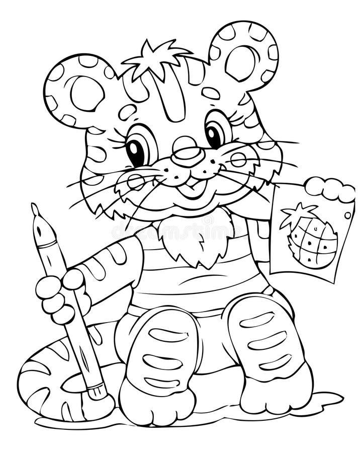 Tijger royalty-vrije illustratie