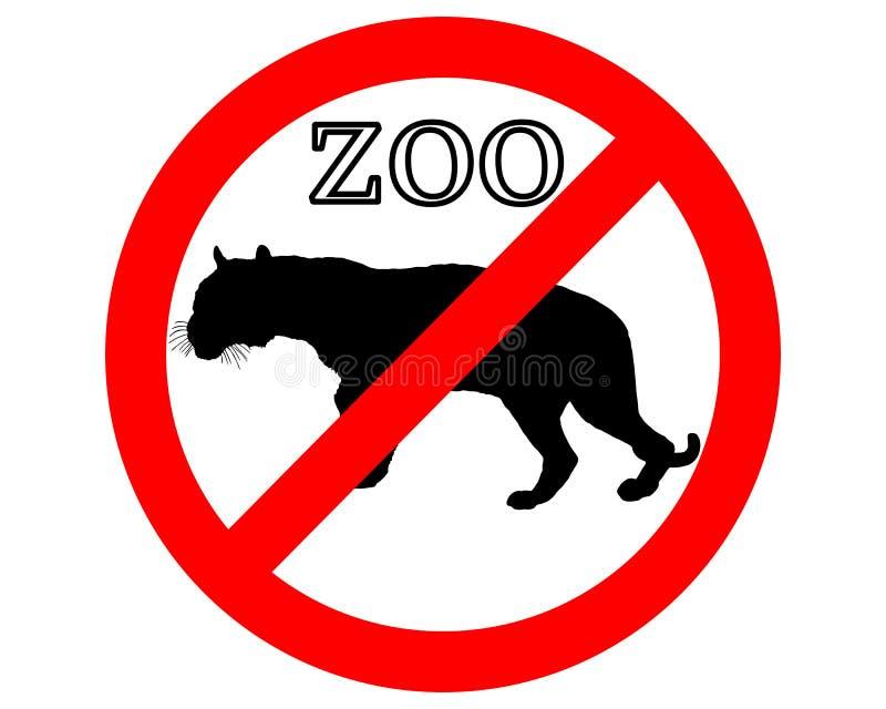 Tijger in belemmerde dierentuin stock illustratie