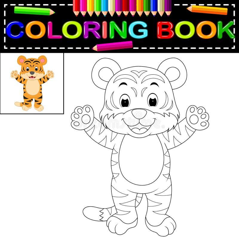 Tijger kleurend boek royalty-vrije illustratie