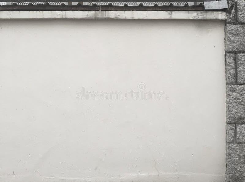 Tijolo cinzento branco da pedra da parede de lado imagens de stock