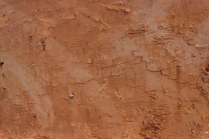 Tijolo contínuo 2 de argila vermelha fotografia de stock