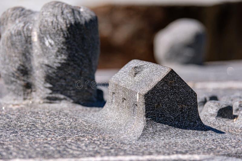 tijolo de pedra teste padrão tectured na natureza fotografia de stock
