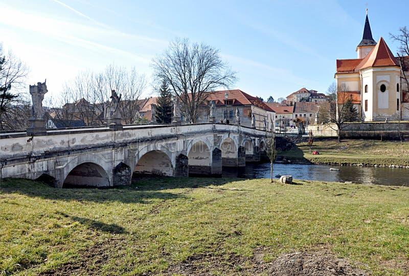 Tijolo velho, cidade Namest nad Oslavou, república checa, Europa fotografia de stock