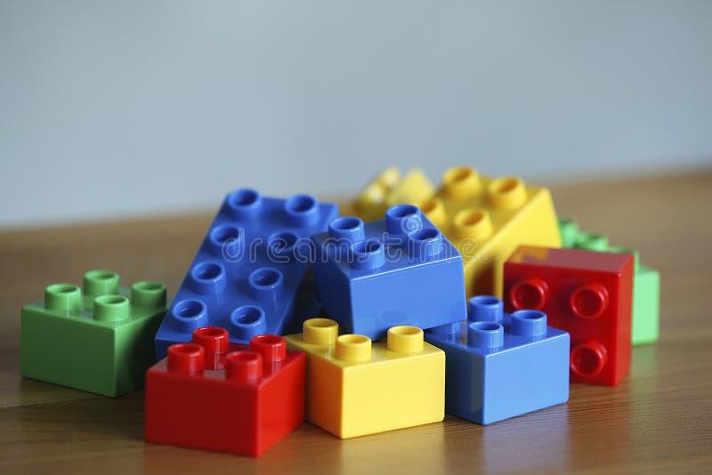 Tijolos coloridos do lego foto de stock royalty free