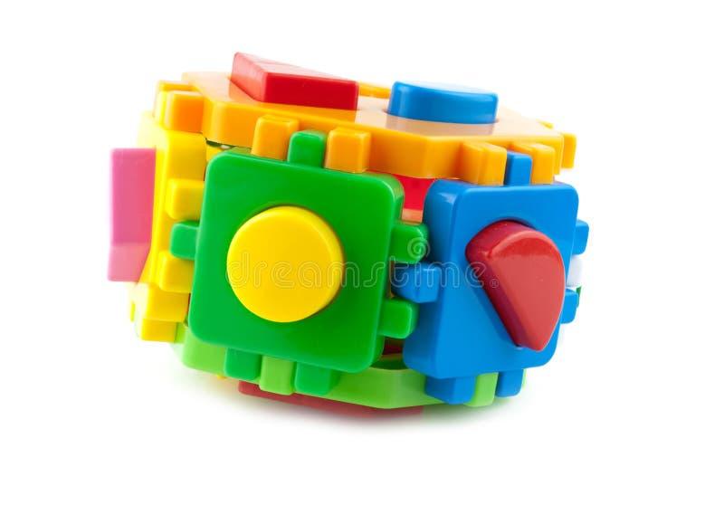 Tijolos do brinquedo fotos de stock royalty free