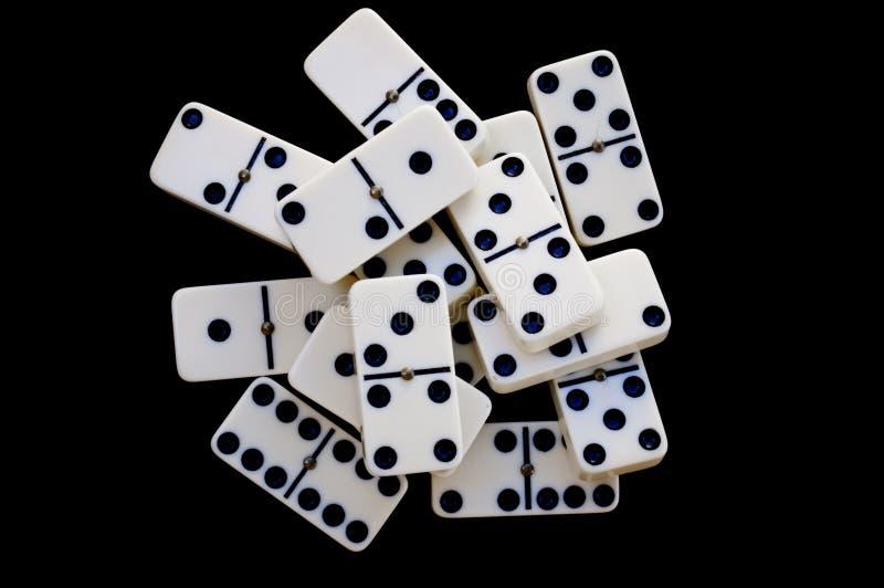 Tijolos do dominó fotografia de stock royalty free