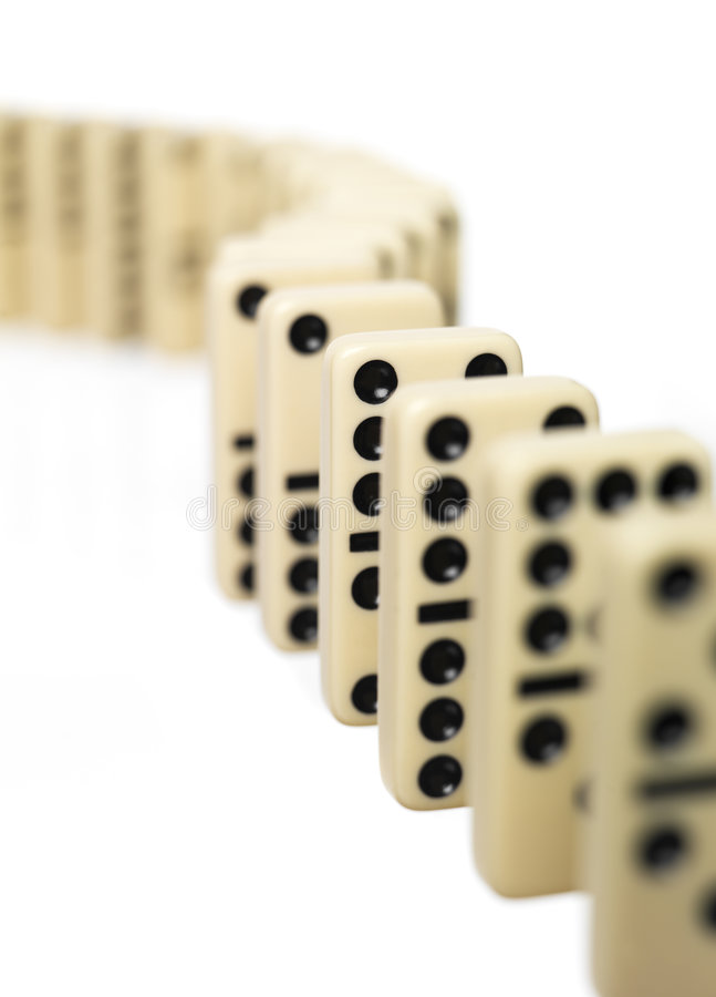 Tijolos do dominó imagens de stock
