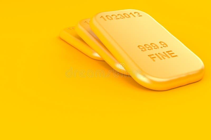 Tijolos do ouro ilustração royalty free