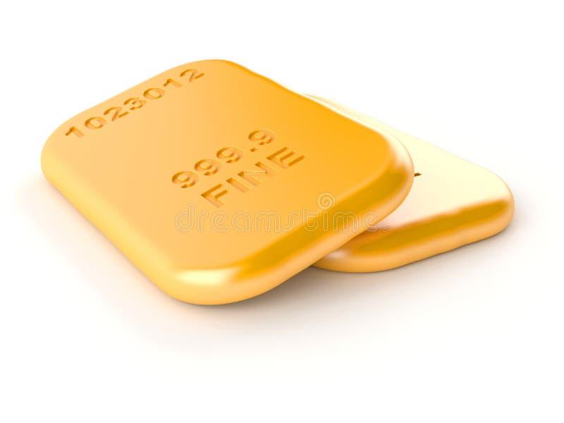 Tijolos dourados ilustração do vetor