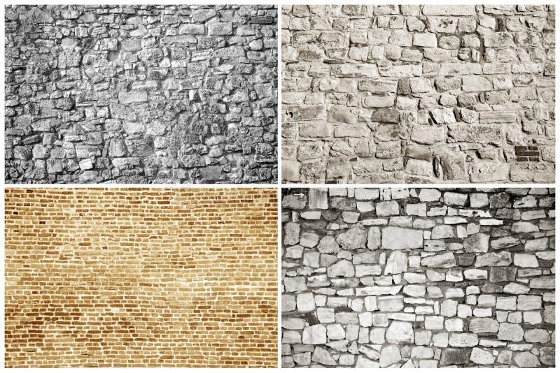 Tijolos e blocos - texturas foto de stock