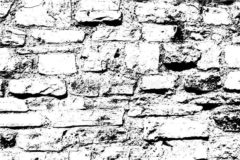 Tijolos e pedras textura clara, fundo abstrato do vetor, parede velha foto de stock