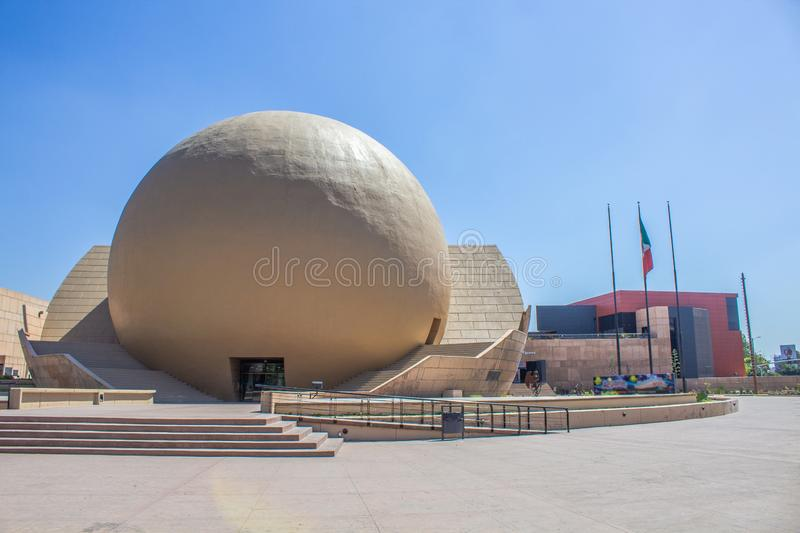 Tijuana, baja california mexico september 11/2019 Cecut is a cultural center and symbol of the Tijuana. his sphere is a cinema stock image