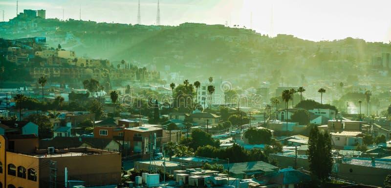 View Just Across the Border in Tijuana, Mexico stock photo